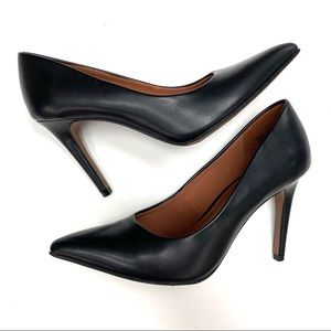 Christian Siriano | Back Leather Heels NWT 6W